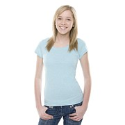 White T-shirt Photos - Teenage Girl by