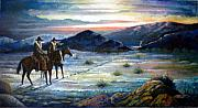 Lawmen Prints - Texas Rangers On His Trail Print by Donn Kay