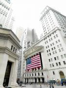 Nyse Photos - The Facade Of The New York Stock by Justin Guariglia