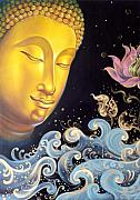 Budha Posters - The light of buddhism Poster by Chonkhet Phanwichien