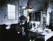 Stock Ticker Prints - Thomas Edison, American Inventor Print by Science Source
