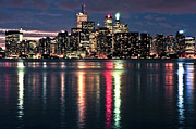 Nighttime Framed Prints - Toronto skyline Framed Print by Elena Elisseeva