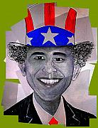 Barack Obama Mixed Media Prints - Uncle Bam Print by Teodoro De La Santa