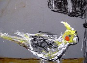 Yellow Beak Paintings - Untitled by Iris Gill