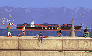 Realist Digital Art - Victoria Breakwater in July by Neil Woodward