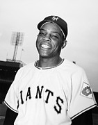 Baseball Uniform Posters - Willie Mays (1931- ) Poster by Granger