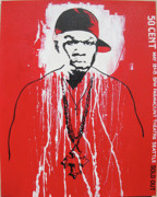 Rap Star Painting Originals - 50 Cent by Sam Hain