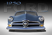 Custom Automobile Digital Art Posters - 50 Ford Custom Convertible Poster by Mike McGlothlen
