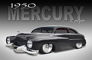 Custom Car Posters - 50 Mercury Coupe Poster by Mike McGlothlen