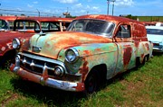Photographers Atlanta Prints - 50s Chevy Panel Wagon at The Auto Ranch Print by Corky Willis Atlanta Photography
