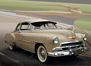 Historic Vehicle Prints - 51 Chevrolet Deluxe Print by Bill Dutting
