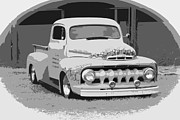 1949 Merc Framed Prints - 51 Ford Pickup  Framed Print by Steve McKinzie
