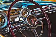 Antique Car Photos - 51 Hudson Hornet Dash by John  Bartosik