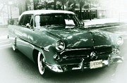 Art Museum Digital Art Metal Prints - 52 Ford Victoria Hard Top Metal Print by Cathie Tyler