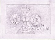 Save The Girl Child Drawings - 52 by Jaydip Raiyani