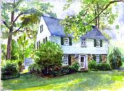 House Portrait Prints - 5211 Purlington Way Print by John D Benson