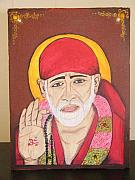 Baba Portrait Paintings - Shri Sai Baba by Shikha Aggarwal