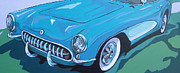 Grill Paintings - 53 Corvette by Sandy Tracey