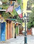 Pirate Drawings - 53  Pirates Alley by John Boles