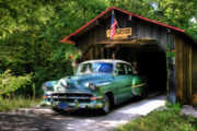 Headlamp Framed Prints - 54 Chevy Framed Print by Joel Witmeyer
