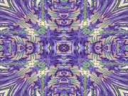 Flower Kaleidoscopes Prints - Iris Print by Michele Caporaso
