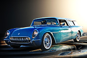 Garage Wall Art Prints - 54 Nomad Vette Print by Bill Dutting
