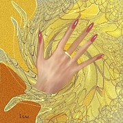 Colour Gold Prints - 546 - Hand Print by Irmgard Schoendorf Welch