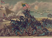 Lithographs Photos - 54th Massachusetts Volunteer Infantry by Everett