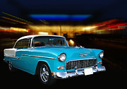 Chev Belair Posters - 55 BelAir Poster by Bill Dutting