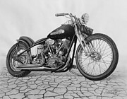 Harley Davidson Drawings - 55 Pan Head by Tim Dangaran