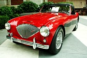 Cars Trucks And Ornaments - 56 Austin Healy by Cathie Tyler
