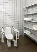 Public Restroom Prints - Estonia. University Hospital Sports Print by Jaak Nilson