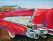 Chevy Pastels - 57 Bel Aire by Sandra Ortega