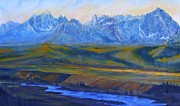 Salmon River Idaho Paintings - Earth Light Series by Len Sodenkamp