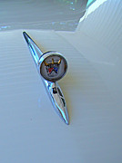 Car Hod Photos - 57 Fairlane 500 Emblem by Nick Kloepping