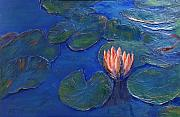 Lilly Pond Paintings - Earth Light Series by Len Sodenkamp