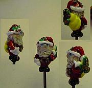 Christmas Jewelry - Rich Santa Clause inspired by a fellow Lampworking artist by Cecilia Alvarez