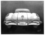 Charcoal Car Posters - 58Vet Poster by Peter Piatt