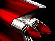 Cadillac Digital Art - 59 Caddy Tailfin by Douglas Pittman