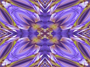 Flower Kaleidoscopes Framed Prints - Iris Framed Print by Michele Caporaso