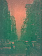 Wall Street Prints - 5th Avenue Print by Irina  March