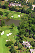 Plymouth Meeting Aerials Prints - 5th Hole Sunnybrook Golf Club 398 Stenton Avenue Plymouth Meeting PA 19462 1243 Print by Duncan Pearson