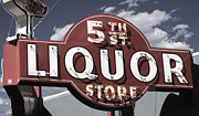 Liquor Store Prints - 5th Street Liquor Las Vegas Print by Anthony Ross