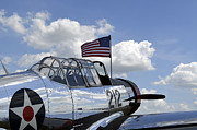 Vultee Bt-13 Valiant Prints - A Bt-13 Valiant Trainer Aircraft Print by Stocktrek Images