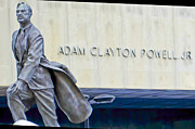 Adam Clayton Framed Prints - Adam Clayton Powell Jr. Framed Print by Theodore Jones
