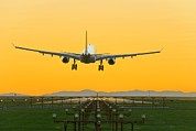 Air Travel Prints - Aeroplane Landing, Canada Print by David Nunuk