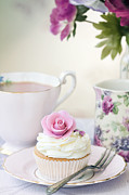 Purple Roses Prints - Afternoon tea Print by Ruth Black