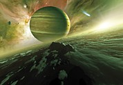 Planetary Science Photos - Alien Planet, Artwork by Detlev Van Ravenswaay
