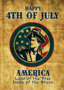 Fourth Of July Digital Art Prints - American revolution soldier general  Print by Aloysius Patrimonio