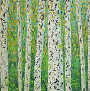 Provence Village Prints - Aspen trees Colorado Print by Frederic Payet
